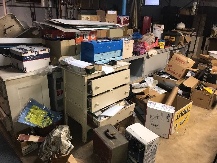 So much to sort through in the basement yet!