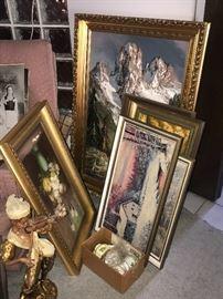 Framed original oil paintings