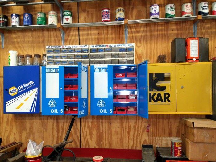 Napa oil Seals, Victor Oil, Kar tool cabinets