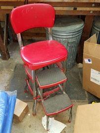 Vintage red stepstool
