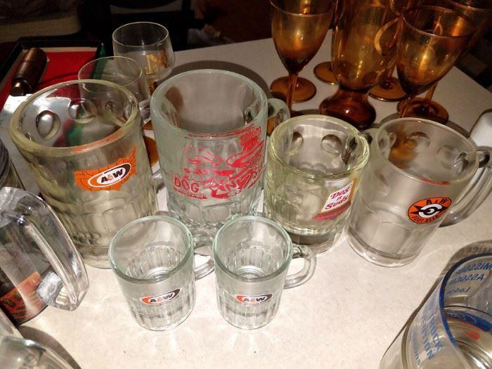 Vintage rootbeer mugs