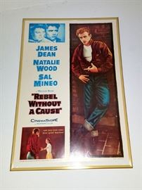 James Dean framed memorabilia