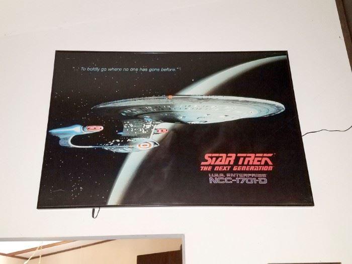 Lighted Star Trek poster