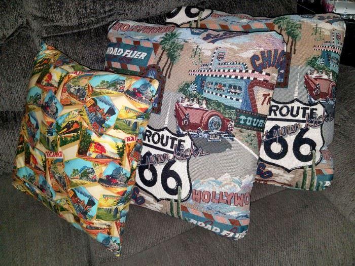 Route 66 pillows