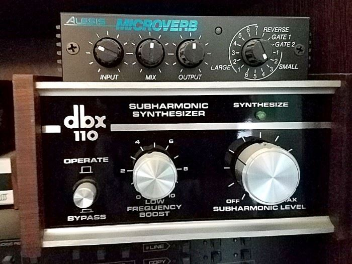 DBX synthesizer. Alesis Microverb