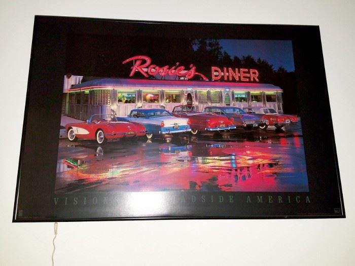 Lighted Rosie's Diner art