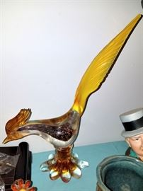 Glass rooster