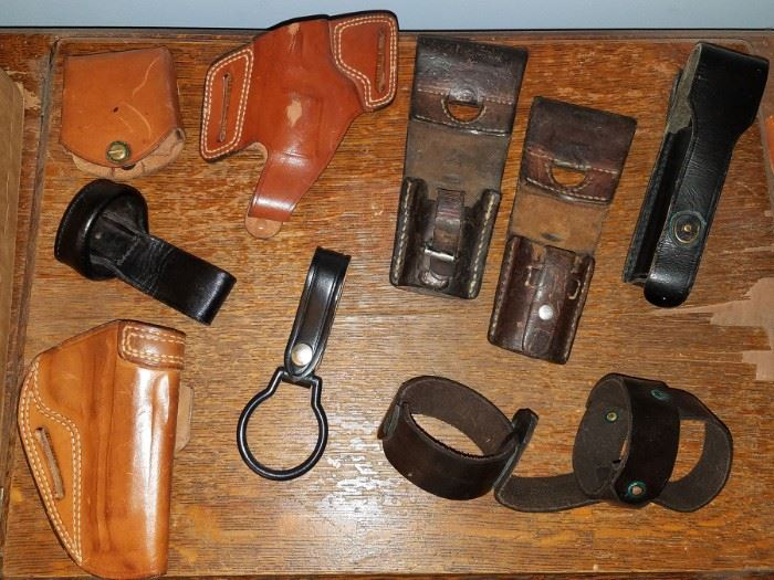 Leather weapon cases and accessories