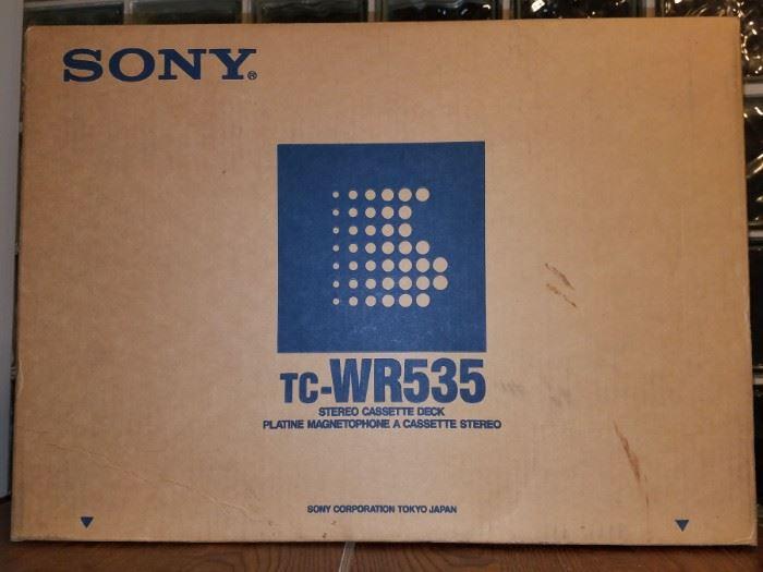 New in box Sony cassette deck