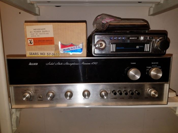 Allied receiver. Solid state 8 track player