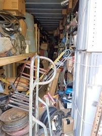 Storage container that is full of auto parts. And more