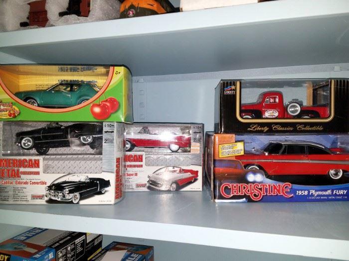 Model cars in original boxes