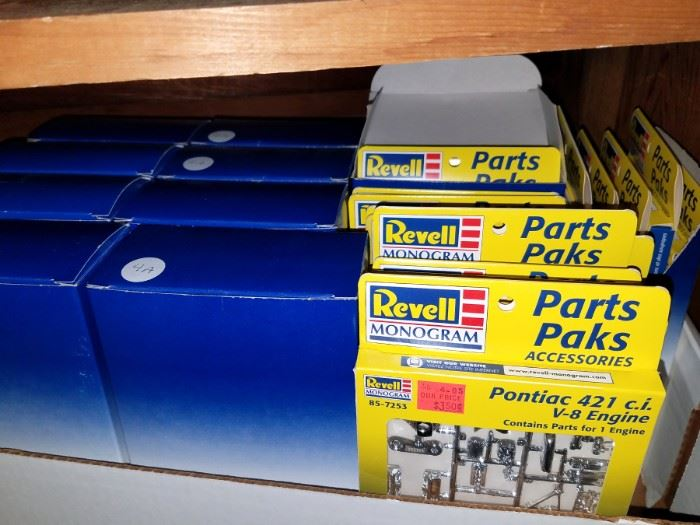 Revell and other model car parts...