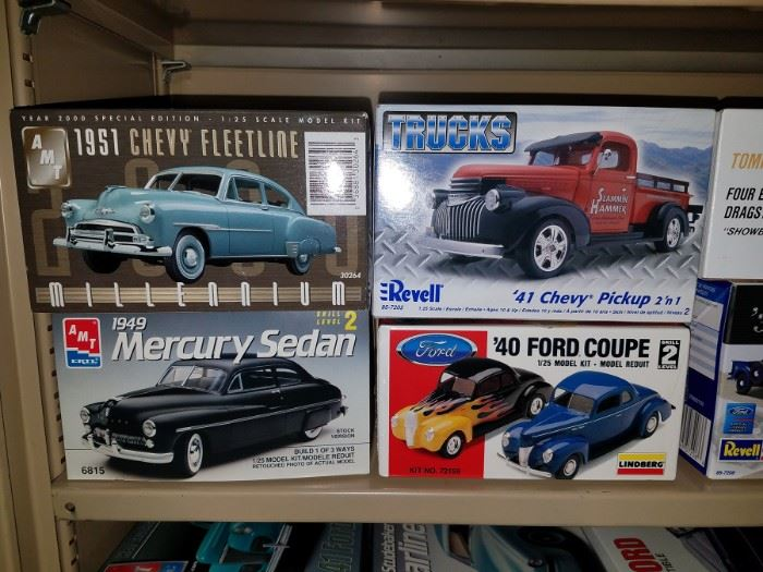 Model car kits...