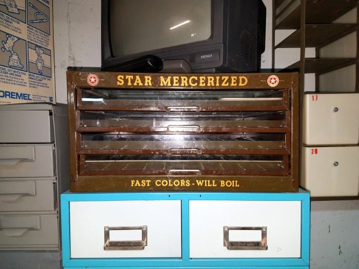 Vintage store display for Star Mercerized thread