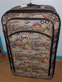 Route 66 theme suitcase