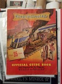 Train railroad locomotive ephemera