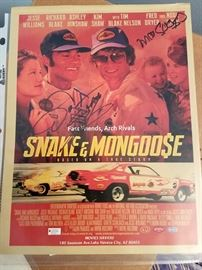 Vintage autographed Snake & Mongoose advertising