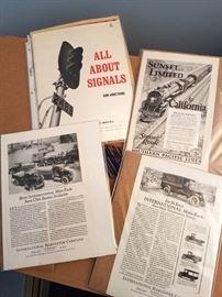 Railroad/vintage auto ephemera