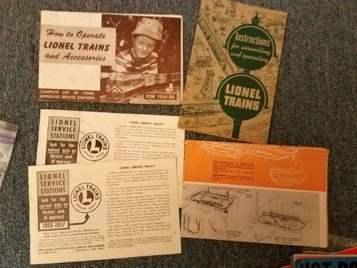 Lionel Trains ephemera
