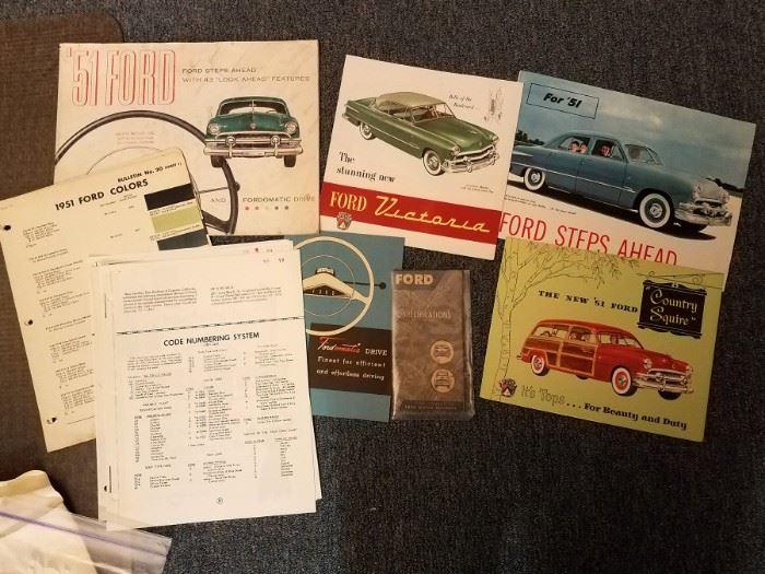 Vintage auto flyers