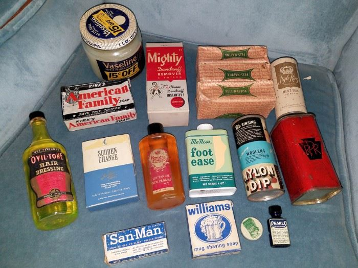 Vintage bath products
