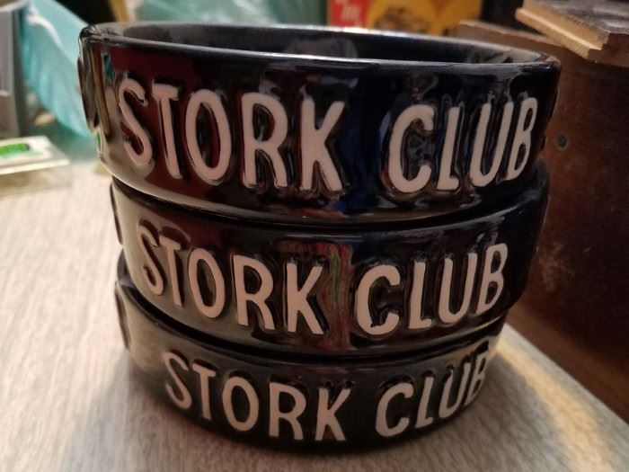 Vintage Stork club ashtrays