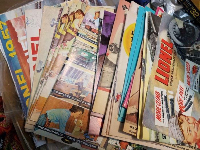 Vintage Lionel pamphlets and more