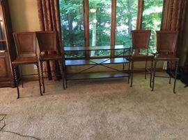 4 Metal HighBack Barstools and Sofa