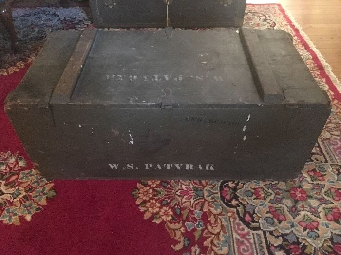 World War 2 Foot Locker Trunk
