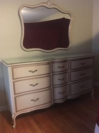 Drexel Dresser, Mirror , Full Bedframe & 2 Nightstands