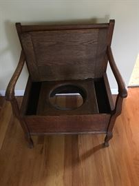 Vintage bedside potty commode