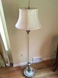 Vintage floor lamp with marble base