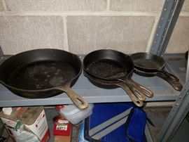 Cast iron skillets.