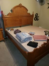 King size bed with box springs,  no mattress.  Made by Lexington. Will be sold as a set with the following pieces...