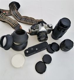 Canon AE-1 35mm camera and accessories     https://ctbids.com/#!/description/share/47311