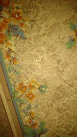vintage vinyl rug about a 8x12 size