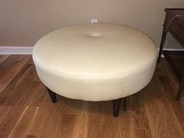 Faux leather ottoman (excellent condition)
