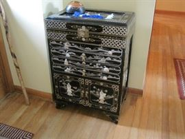 Oriental cabinet used for jewelry