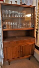 MCM china cabinet, table, chairs, and buffet