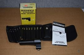 Bushnell Standard Bore Sighter / Model 74-4001. Complete with 15 arbors and carrying case. LOCATION 19