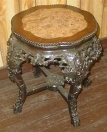 Ornate Marble Top Plant Stand