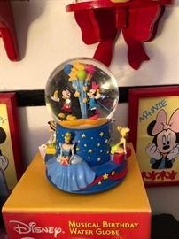 Disney Musical Birthday Water Globe