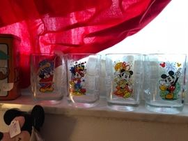 Mickey Mouse collectible glasses