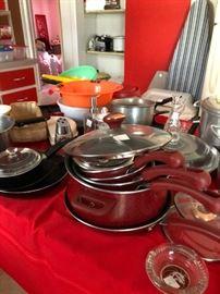 Paula Dean cookware set  & MGM ashtray
