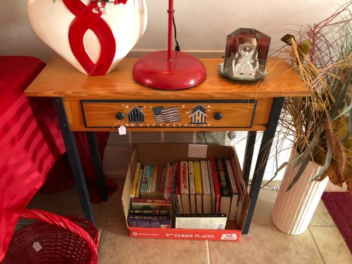 decorative side table with drawer