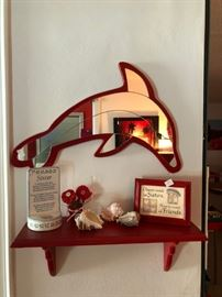 Dolphin mirror and sister plaques