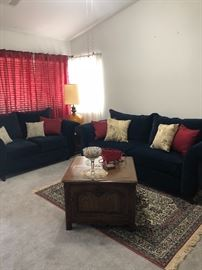 Living room area - modern couches