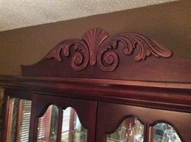 Detail of Top of China Cabinet