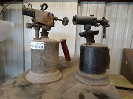 2 vintage torches.